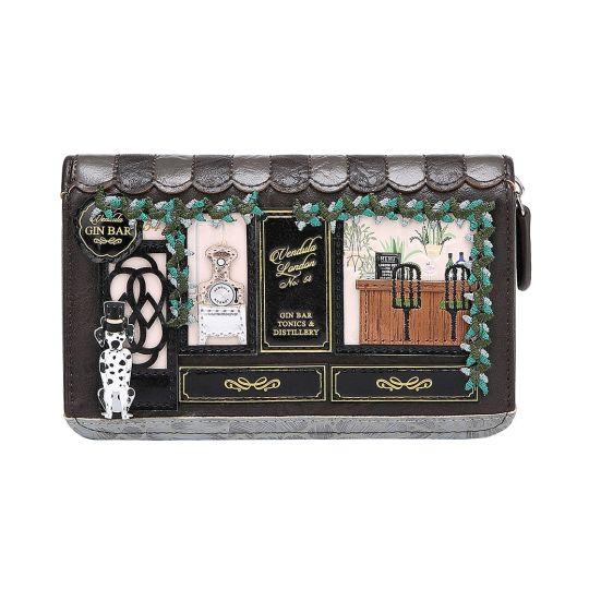Gin Bar Medium Ziparound Wallet