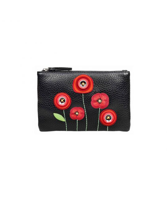 Vendula New Poppy Zipper Coin Purse