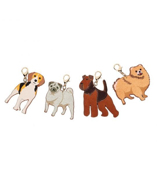 Set of 4 Vendula Vegan Leather Charms – 4 dogs