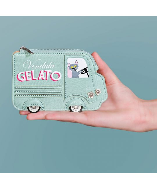 Gelato Truck Small Zipper Coin Purse