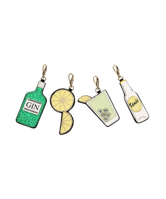 Set of 4 Vendula Vegan Leather Charms – Gin & Tonic
