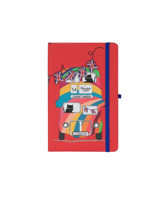 Vendula London Bus Red Notebook