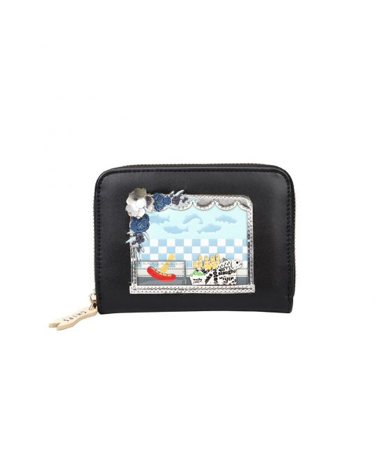 Fish and Chips Small Zip Around Wallet