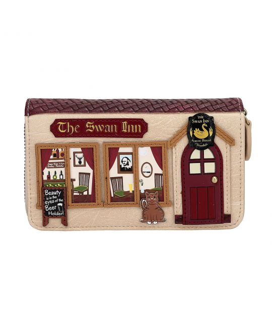 The Swan Inn Pub Medium Ziparound Wallet