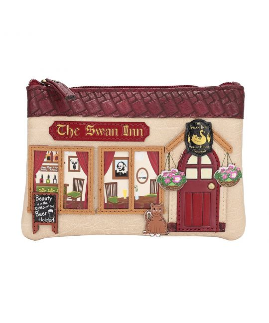The Swan Inn Pub Zipper Coin Purse