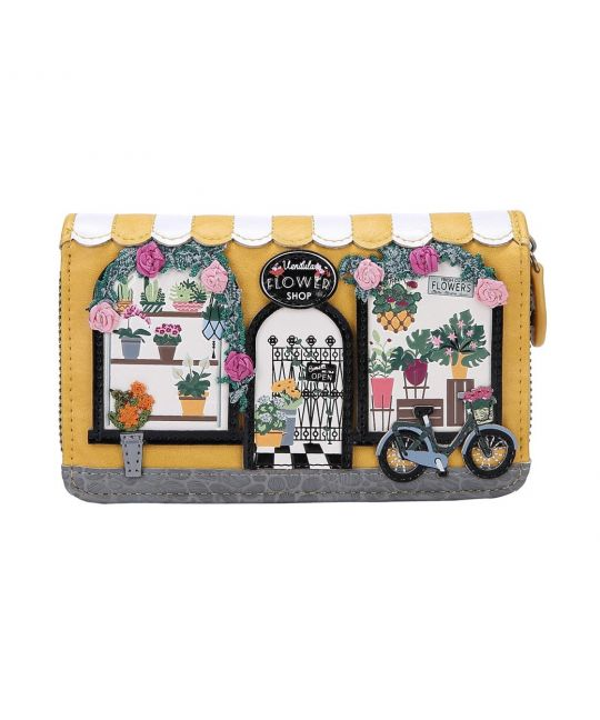 Vendula Flower Shop Medium Ziparound Wallet