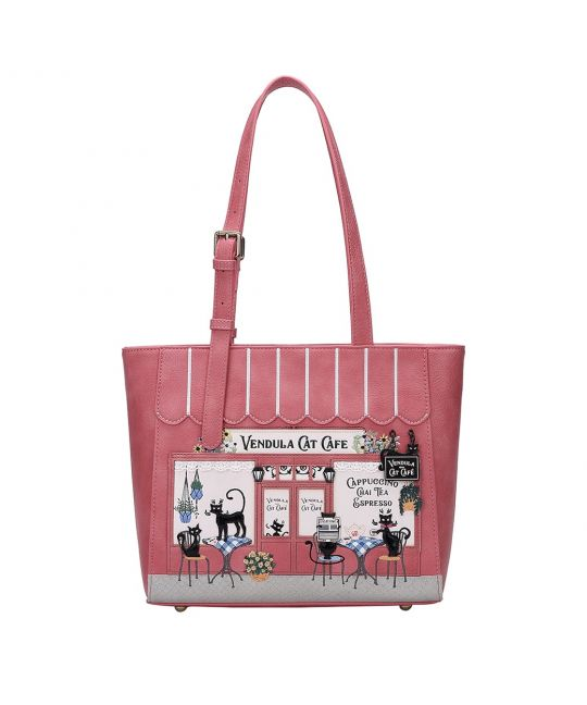 Vendula Cat Café Shopper Bag