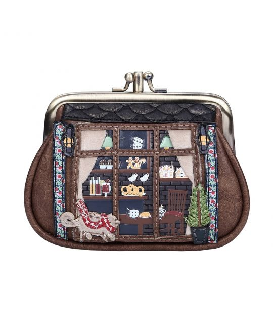 Winter Café Clipper Coin Purse