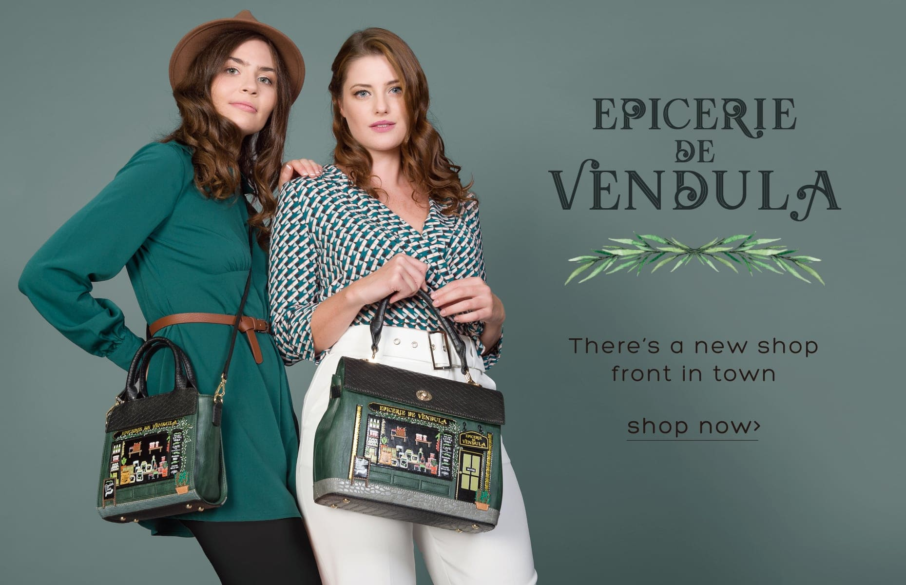 Vendula London Epicerie de Vendula Shop Front Shaped Bag and accessory vegan certified
