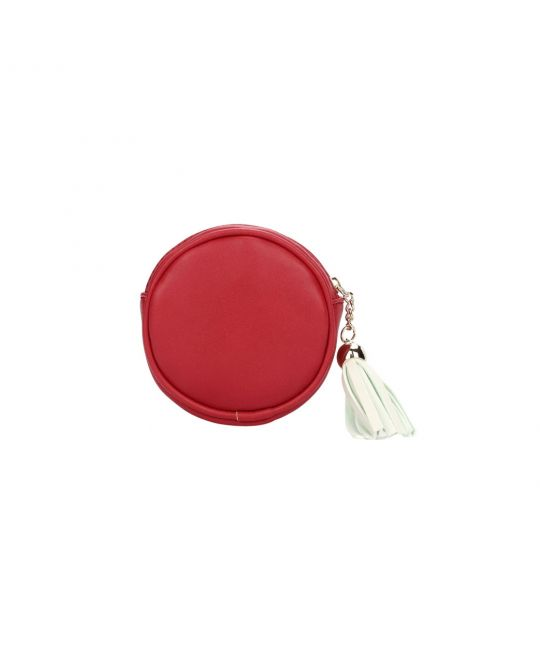 Russian Dolls Round Zipper Coin Purse - Red
