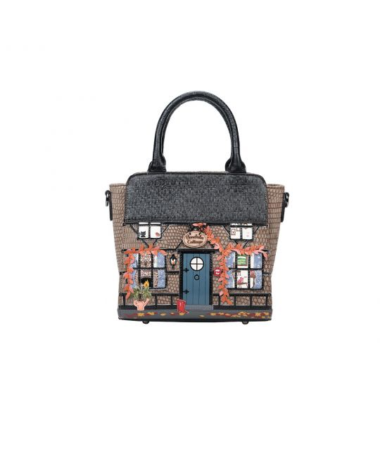Winter Cottage Mini Tote Bag