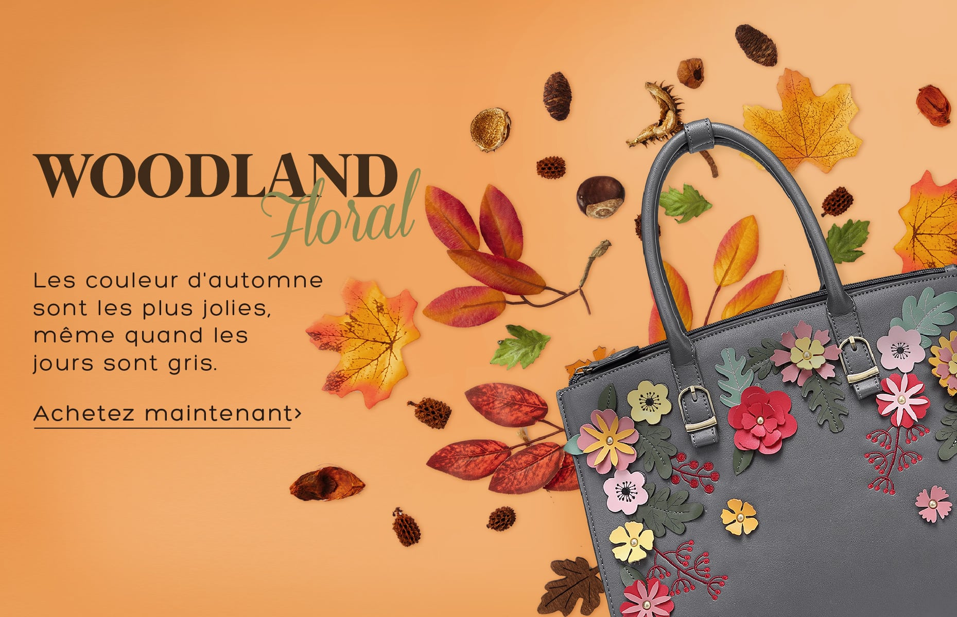 Woodland Floral Bags and accessories Vendula London vegan certified